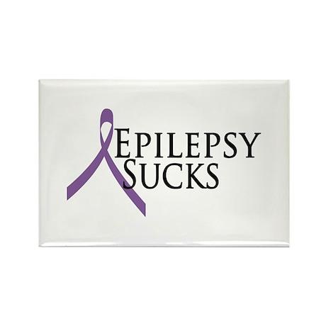 Epilepsy Sucks Rectangle Magnet (100 pack)