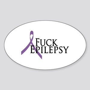 Fuck Epilepsy Oval Sticker