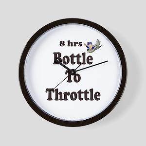 8hrs Bottle To Throttle Wall Clock