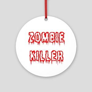 Zombie Killer Ornament (Round)