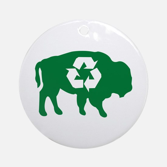Buffalo Recycle Ornament (Round)