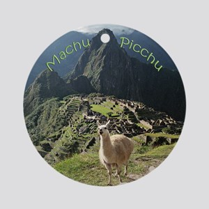 Machu Picchu Ceramic Christmas Ornament