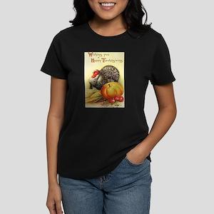 Vintage Thanksgiving Women's Dark T-Shirt