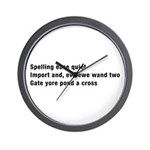Spellchecked Wall Clock