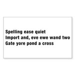 Spellchecked Rectangle Sticker 50 pk)