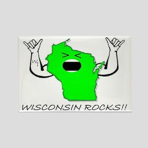 WISCONSIN ROCKS!! Rectangle Magnet