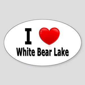 I Love White Bear Lake Oval Sticker