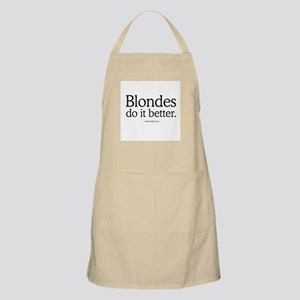 Blondes do it better -  BBQ Apron