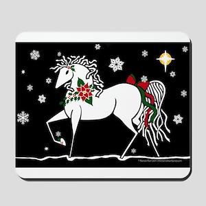 Silent Night Christmas Horse Mousepad