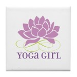 yoga girl Tile Coaster