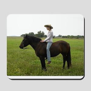 April Cowgirl Mousepad