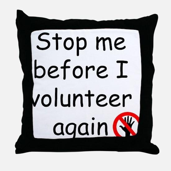 Cute Volunteer Throw Pillow