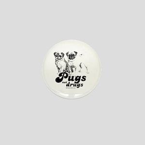 Pugs not drugs - Mini Button