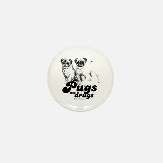 Pugs not drugs - Mini Button