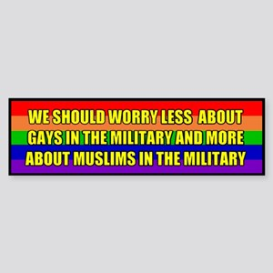 Gays in the Military Bumper Sticker