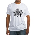White Fitted Trinacria T-Shirt