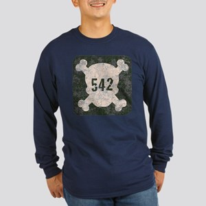 542 & Crossbones Long Sleeve Dark T-Shirt