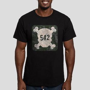 542 & Crossbones Men's Fitted T-Shirt (dark)