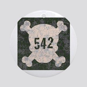 542 & Crossbones Ornament (Round)