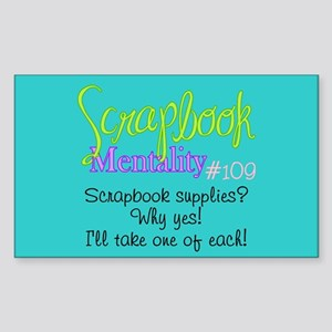 Scrapbook Mentality #109 Rectangle Sticker