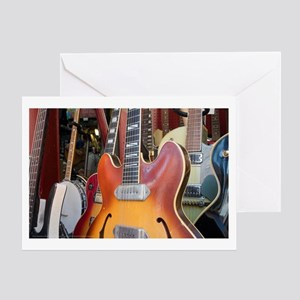 Guitar Store Window Greeting Card