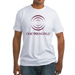 One To World Logo Fitted T-Shirt