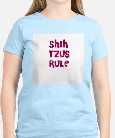 SHIH TZUS RULE Women's Pink T-Shirt