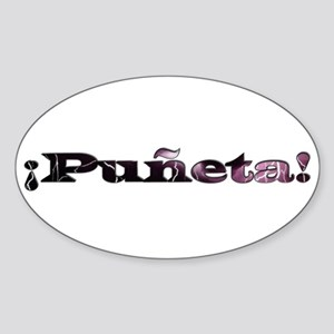 Puñeta Oval Sticker