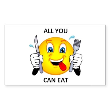 All you can eat Rectangle Sticker