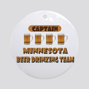 Minnesota Beer Drinking Team Ornament (Round)