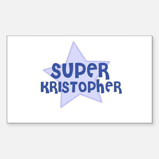 Super Kristopher Rectangle Decal