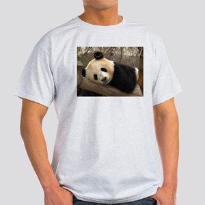 Ginat Panda 2 Ash Grey T-Shirt