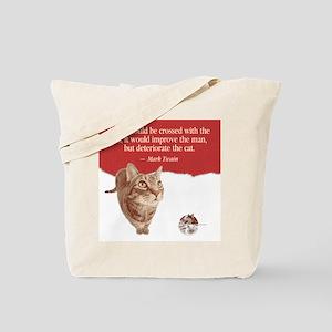 Twain Cat Quote Tote Bag