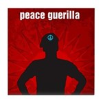 Peace Guerilla Tile Coaster