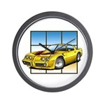79-81 Trans Am Yellow Wall Clock