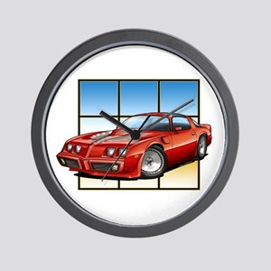 79-81 Trans Am Red Wall Clock