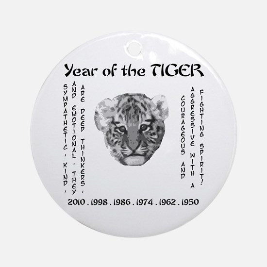 2010 - Year of the Tiger Ornament (Round)