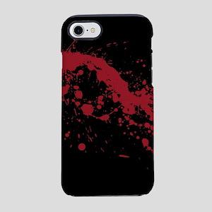 splatter-black_allover-f iPhone 7 Tough Case
