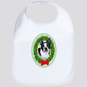 Boston Terrier christmas Bib