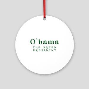 O'bama | Green President - Ornament (Round)