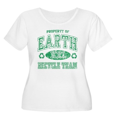Earth Day Recycle Team Women's Plus Size Scoop Nec