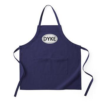 DYKE Euro Oval Apron (dark)