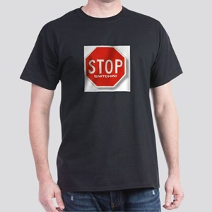 Stop Snitchin'  Black T-Shirt
