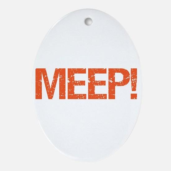 Meep Oval Ornament