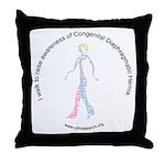 I Walk To Raise CDH Awareness Throw Pillow