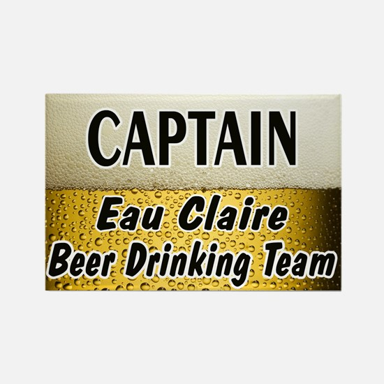 Eau Claire Beer Drinking Team Rectangle Magnet