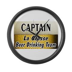 La Crosse Beer Drinking Team Large Wall Clock