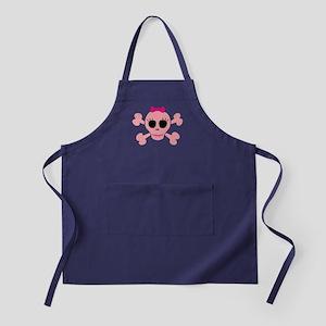 Funny Pink Skull Apron (dark)