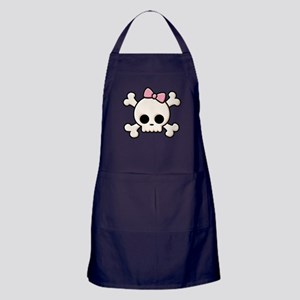 Cute Skull Girl Apron (dark)
