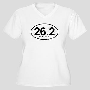26.2 Marathon Women's Plus Size V-Neck T-Shirt